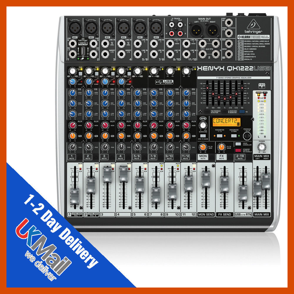 BEHRINGER XENYX QX1222USB Musical Instruments Mixers & Accessories ...